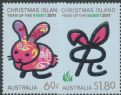 CHI SG697-8 Chinese New Year (Year of the Rabbit) set of 2